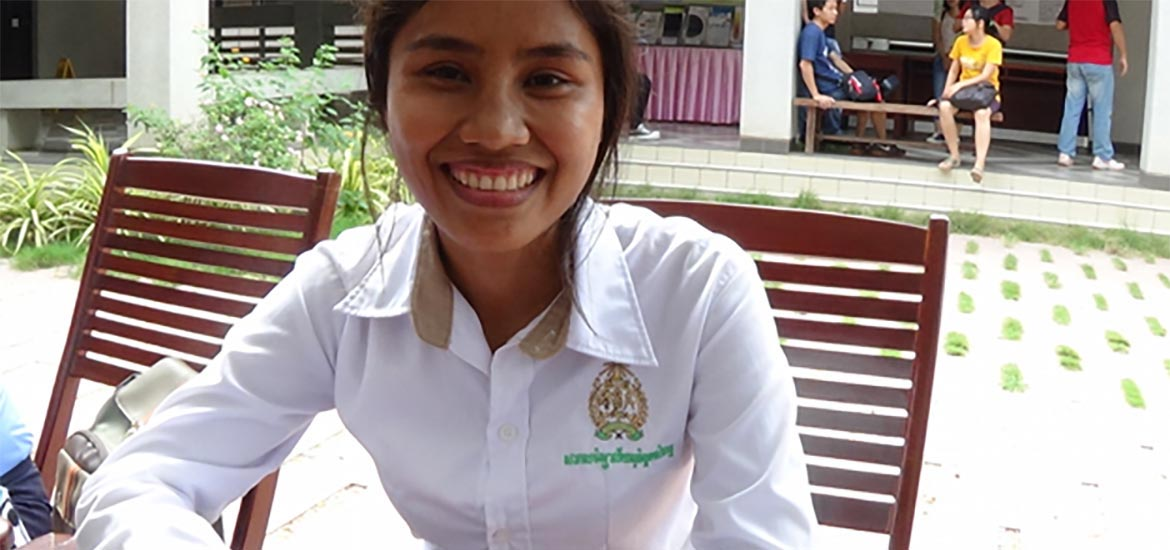 GATEways Case Study and interview at the Royal University of Phnom Penh, November 2014